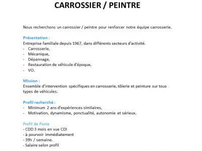 Poste de Carrossier / Peintre
